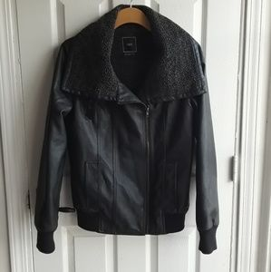 Obey Faux Leather Moto styled jacket Medium